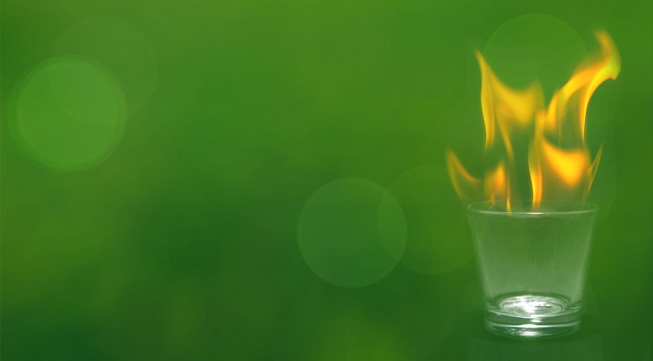 Slider Feuerglas